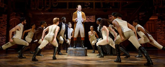 """""""Hamilton"""" runs through Jan. 19 at the Tennessee Performing Arts Center, and there is a lottery with 40 $10 tickets for every performance."""