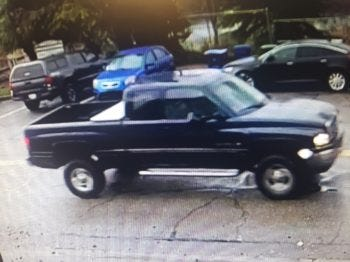 Redding police say this truck struck and severely injured a Redding teenager who was walking on the sidewalk along North Court Street on Dec. 13.