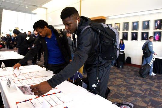 Louisiana Tech University's football team arrived at the Hilton Shreveport Hotel Sunday, December 22, 2019.
