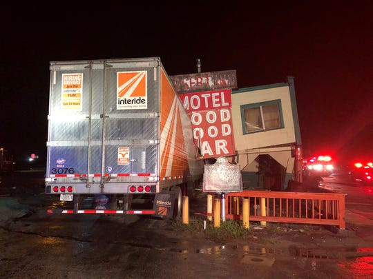 A part of the historic Desert Inn and Restaurant in Yeehaw Junction collapsed early Sunday Dec. 22, 2019, morning after a semi-truck hit the building, the Florida Highway Patrol reports.