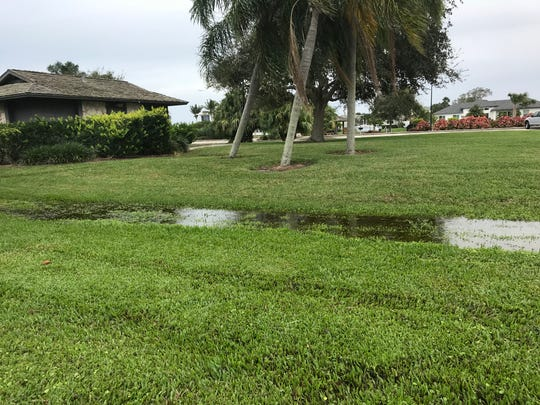 Some flooding was seen Sunday afternoon in Youngs Park in Vero Beach. Meteorologists said Indian River County and the other two counties in the Treasure Coast could see some strong storms Sunday night.