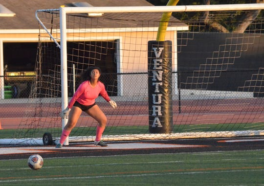 Ventura College sophomore Aracely Castro was voted the 2019 WSC North women's soccer co-Goalkeeper of the Year.
