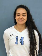 Moorpark College freshman Janesa Valoaga was named WSC North co-Player of the Year with teammate Lily Karamanukyan.