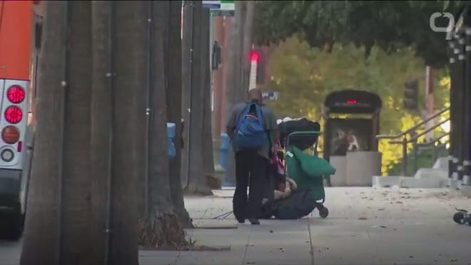 A surge in unsheltered and chronically homeless people in California is pushing up the national rate.