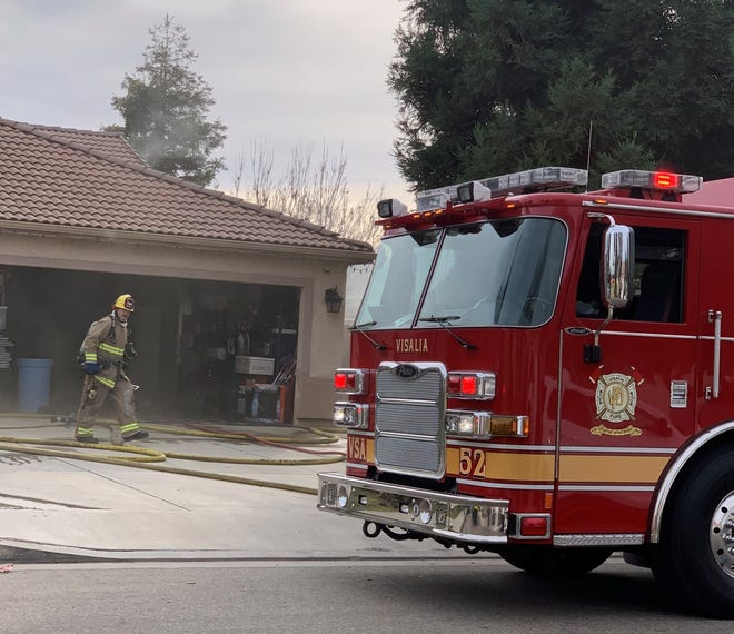Two homes were damaged in a fire on Saturday, December 21, 2019.