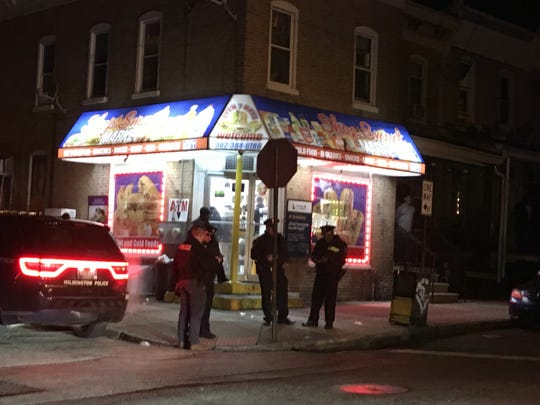 Wilmington police respond to an incident at Elm and Harrison streets on Dec. 20, 2019