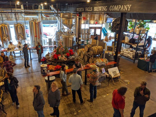 People look for gifts at the 2nd annual Oh $*!# It's almost Christmas: Shopping Event Saturday, Dec. 21, 2019, at the Wichita Falls Brewing Company.