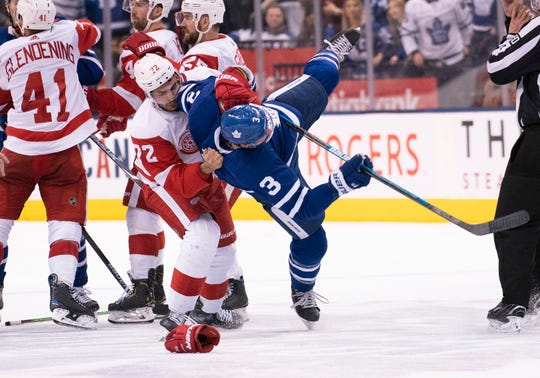 Dec. 21: Detroit Red Wings left wing Andreas Athanasiou vs. Toronto Maple Leafs defenseman Justin Holl