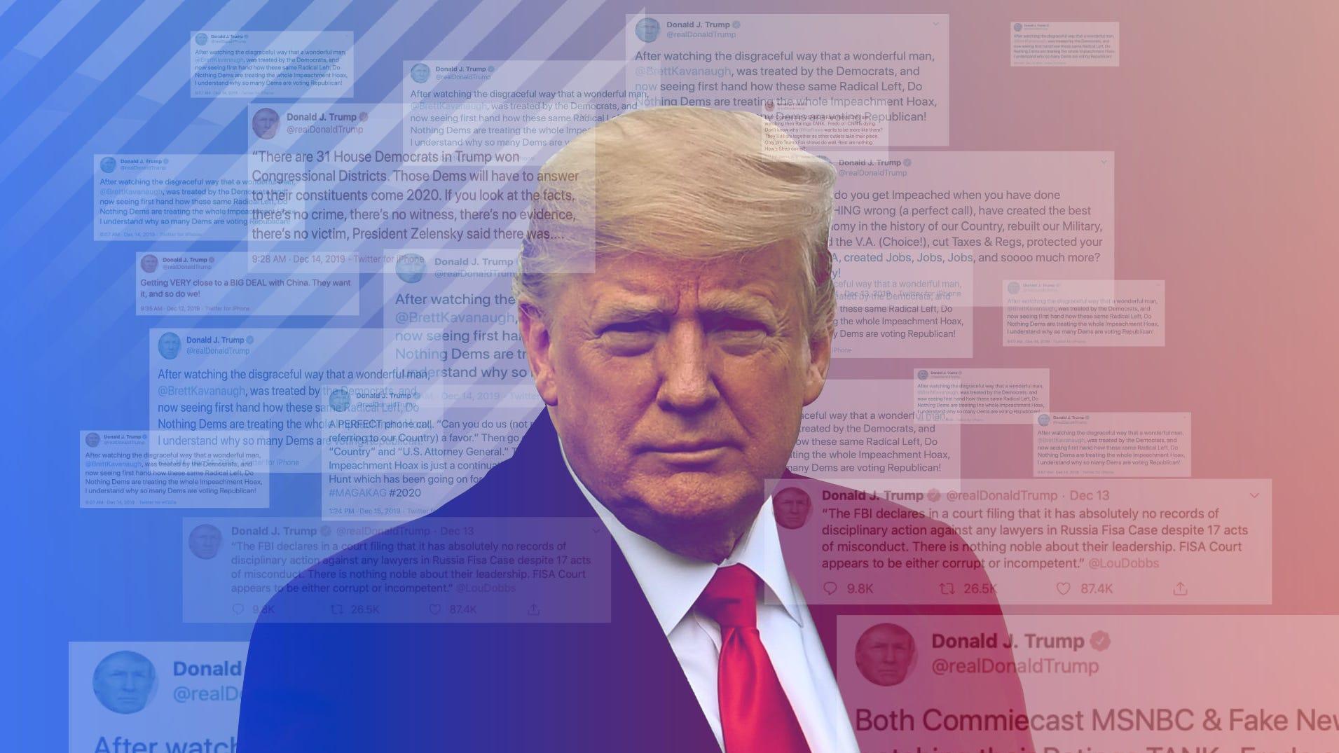 Donald Trump S Tweets Get Negative As Impeachment 2020 Election Loom