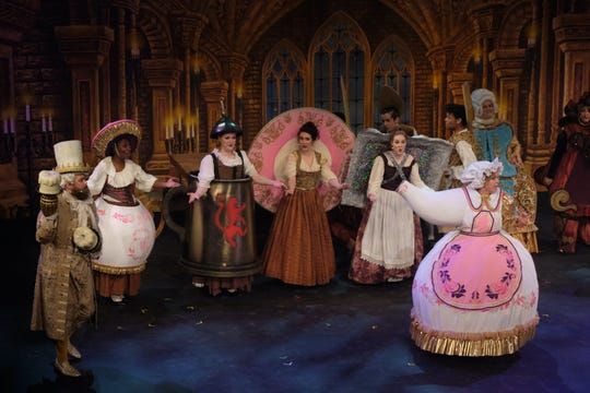 "Brittany Kay Taylor, right, reprises her role of Mrs. Potts (""Beauty & the Beast"") in the Disney+ series ""Encore!"" Taylor was one of several featured cast member who, thanks to the streaming service's show, reunited in Fort Worth 12 years after originally staging the show to do it one last time."