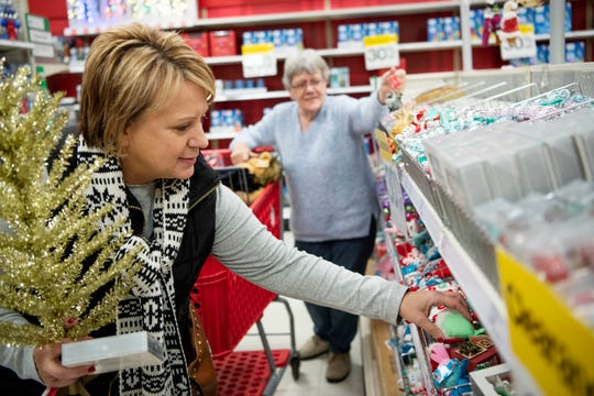 Barb Darlington does last minute Christmas shopping with her mother Jean Comello on Monday, Dec. 23, 2019 at the Target on Beckley Rd. in Battle Creek, Mich.