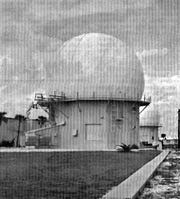 Radar domes like these, pictured here in a 1969 photo, housing a search and two height finder antennas, were located south of central Patrick Air Force Base housing on State Road A1A.