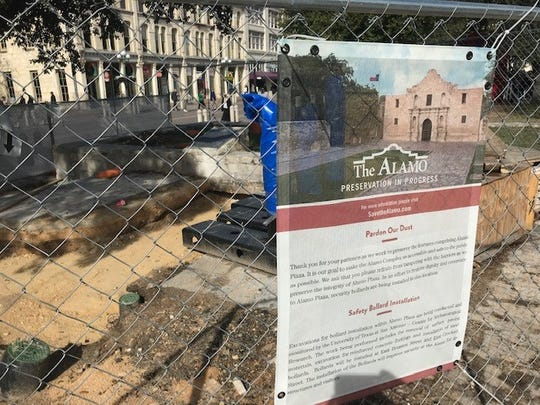The Alamo in downtown San Antonio is undergoing a $450 million restoration.