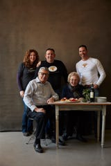 Joseph and Anna Maria Severino (seated) were the founders of Severino Pasta. Today, their children Carla, Louis and Peter (left to right) run the business, which includes retail and wholesale. Joseph died Dec. 19 at age 87.