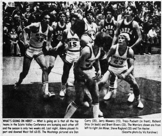 Jim Miner, second from left,  helped Adena stay on top during the 1979-1980 Scioto Valley basketball season.