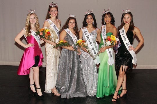 On Nov. 16, Ariel Staffin (second from left) of Bridgewater became the second woman to be crownedMiss Central Jersey after winning the Miss New Jersey/Miss America Preliminary competition. With Staffin is Brynn McKinney, Miss NJ's Outstanding Teen, Angelique Cauterucci, Miss Central Jersey's Outstanding Teen, Thushara Korattyil, Miss Seaside Counties, Krystle Tomlinson, Miss Central Jersey Coastline and Jade Glab, Miss New Jersey.