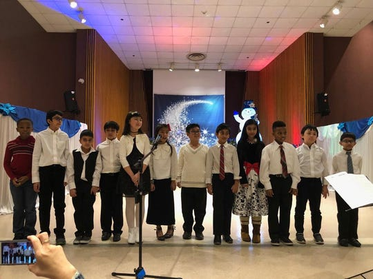 TEECS' students from grades K-8 performed a winter concert at the Jewish Heritage Senior Citizen Center in Somerset.