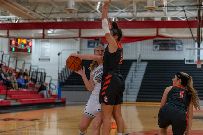 The Bridgewater-Raritan High School girls basketball team used a 19-8 third-quarter surge to pull ahead and held on to defeat Somerville 46-37 Monday at Vaughn Stapleton Gymnasium.