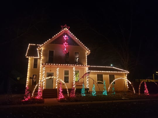 A home at 208 N. B Street in Indianola was named the winner of Indianola Hometown Pride's annual Christmas decor contest. The home's lights are synchronized to a radio station.