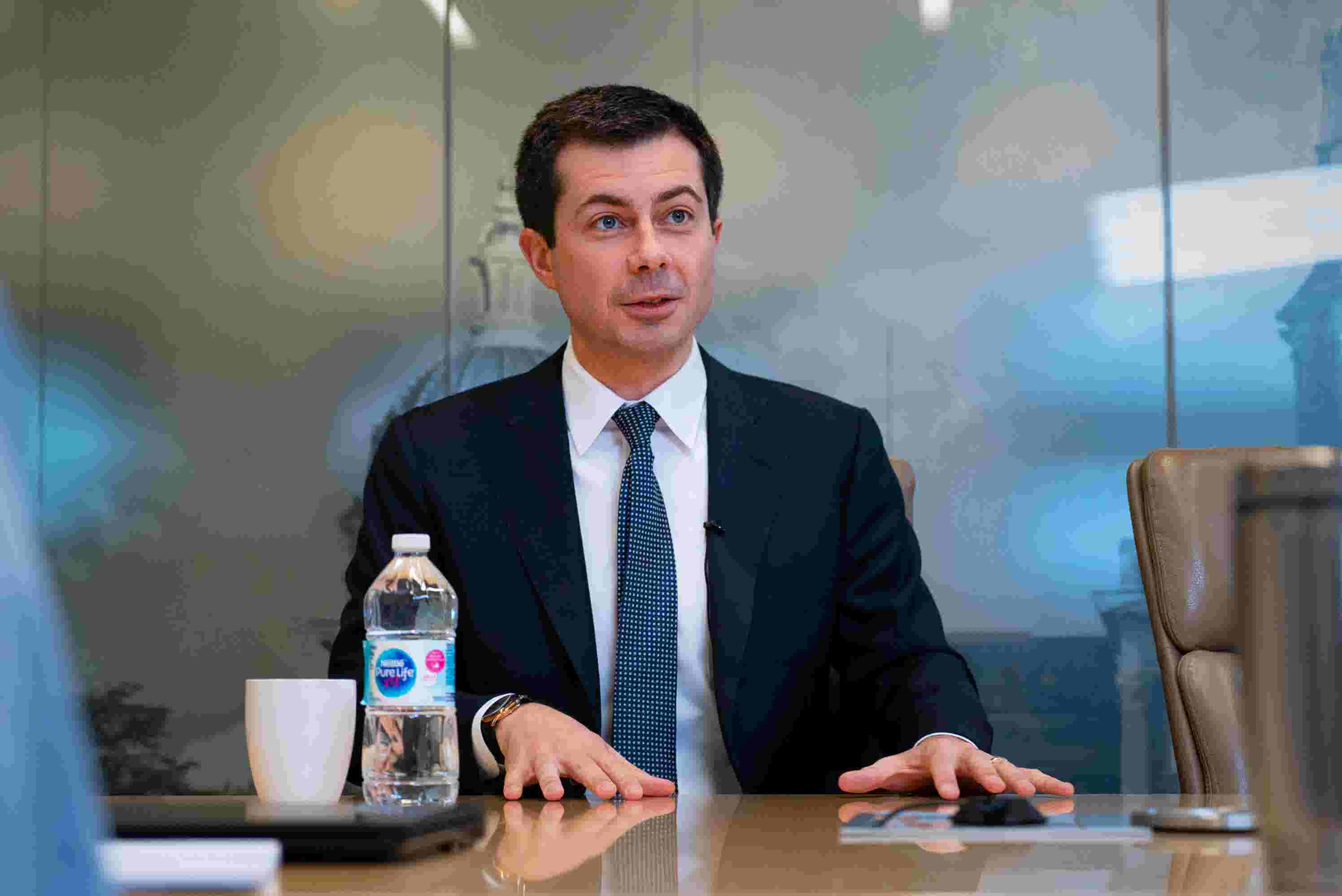 Watch: Pete Buttigieg meets with the Register's editorial board
