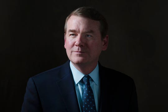 U.S. Sen. Michael Bennet (D-Colo.) and 2020 presidential candidate meets with the Register's editorial board on Dec. 23, 2019.