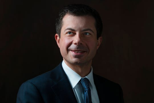 Mayor of South Bend, Ind. and 2020 Democratic candidate Pete Buttigieg meets with the Register's editorial board on Dec. 23, 2019.