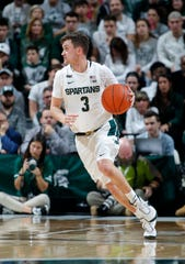 Michigan State's Foster Loyer scored a season-high 13 points Saturday against Eastern Michigan.