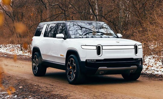 Ford planned to build an electric SUV on Rivian's platform. A prototype of Rivian's vehicle is shown here.