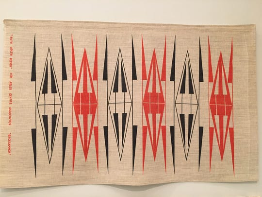 """Ruth Adler Schnee's """"Backgammon"""" from 1949 at the Cranbrook Art Museum."""