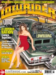 The cover of the January 2001 issue of Lowrider. The magazine stopped featuring scantily clad women several years ago.