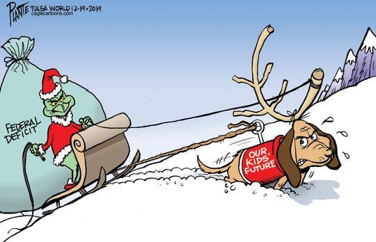 Deficit Grinch stealing kids' future.