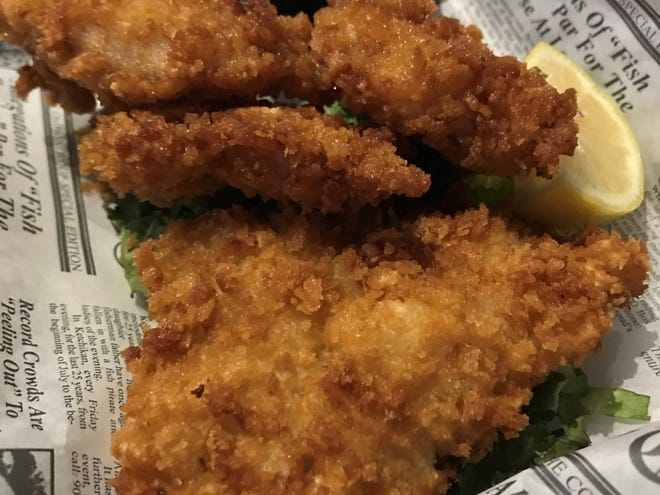 An appetizer of panko-crusted grouper fingers from The Sandbar & Grille in Fort Myers.