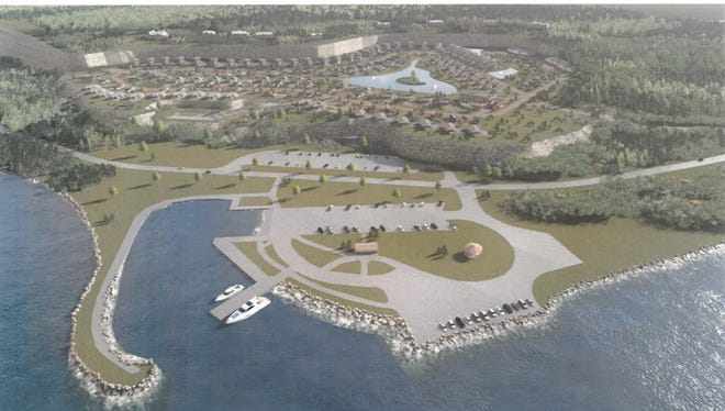A rendering of the possible Olde Stone Quarry development.