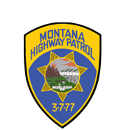 The Montana Highway Patrol patch. The 3-7-77 on the patch since 1956 symbolizes the first organized law enforcement in Montana during the days of the vigilantes in the 1800s.