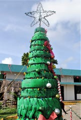 One high mileage Christmas tree is ready for the big day at the Mongmong-Toto-Maite mayor's office in the village, Dec. 23, 2019