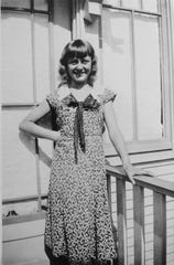 """At the time she sang for the """"Little Orphan Annie"""" radio show, 11-year-old Betty Jensen Osincup looked like this"""