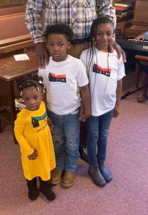 Anoni Johnson, 1, from left,  Jayden Peppers, 6, and Kam'Breonna Brown, 8, were killed in crash involving an 18-wheeler on Dec. 14, 2019, on Interstate 55 in Madison County. Funeral services were held for the children on Monday, Dec. 23, 2019, in Goodman, Miss.