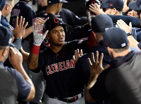 Santa Spence's wish for Cleveland Indians third baseman Jose Ramirez is that his bat heats up next season before July.