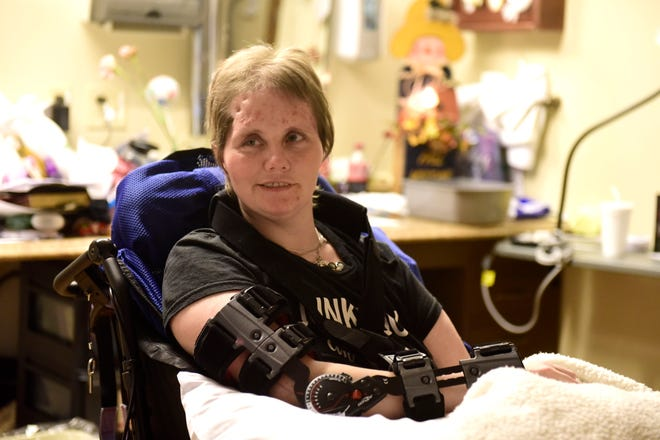 Stacey Boggs is recovering at The Good Shepherd in Ashland after a May 5 wreck.