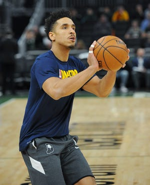 Malcolm Brogdon came to Milwaukee leading the Pacers with 18.7 points and 7.5 assists a game.