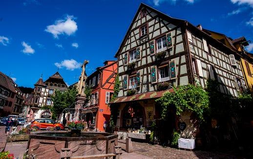 Alsatian town of Kaysersberg.