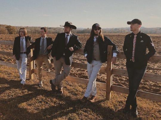 From left, Boyd Blackmon, Fletcher Robinson, Ryan Waters, Cota Cheek and Jakob Holsonback of the Ryan Waters Band.