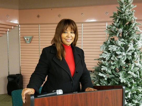 Pastor Juanita Smith serves at Heart To Heart Church in Montgomery, where a free Christmas Day meal is being offered to everyone from 11 a.m.-2 p.m.