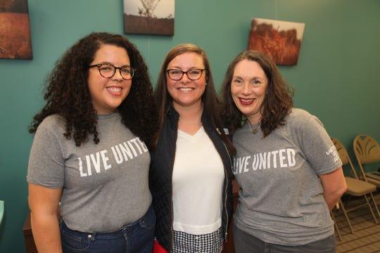 Ariana Ramos, Ace Timmermeier and Tamara Kreigh help launch the United Way Volunteer Income Tax Assistance (VITA) program to Springfield on Saturday, Dec. 21, 2019.