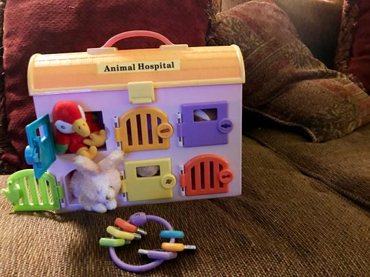 Ms. Cheap found a toy animal hospital as a neighborhood yard sale in summer 2019.