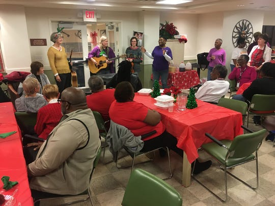 Musicians from Historic Franklin Presbyterian Church and Daughters of the King nonprofit co-founder Tracye Tucker organized a Christmas party for senior citizens at Reddick Senior Residence in Franklin.