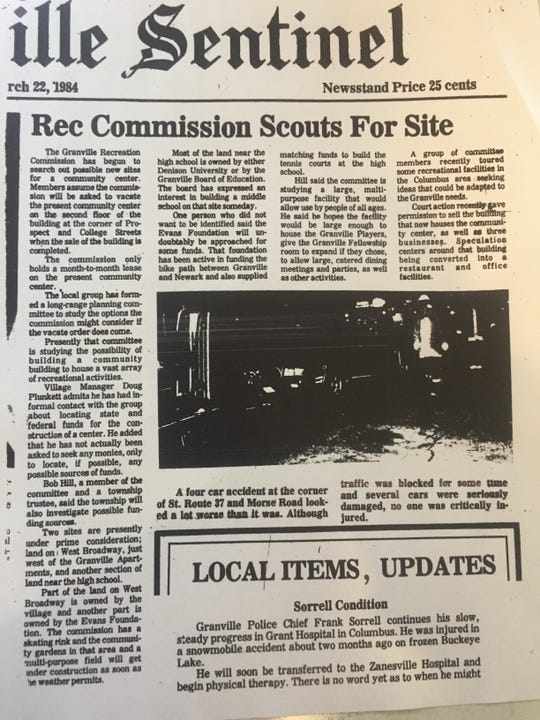 The Granville Sentinel reported in 1984 of Granville Recreation exploring a community center similar to the one now being proposed by the GRD.