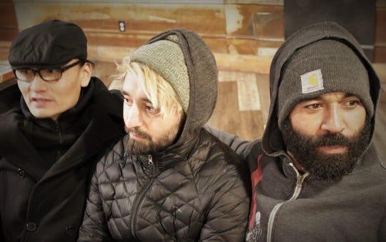 Brandon Mike, left, Eddie Jacquez and OJ Kaminky of the Farmington instrumental rock trio Cinematica.