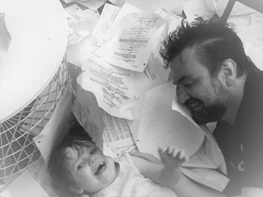 Salcido and his daughter a few years back.