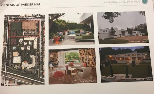 These photos from Parker Hall planning documents show the orientation of the proposed estate plus design inspiration.